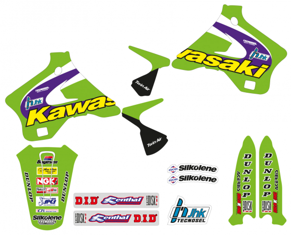 Blackbird Racing TECNOSEL GRAPHICS KIT TEAM REPLICA KX 125 250 94-98