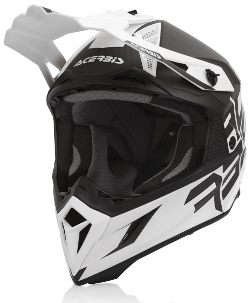 ACERBIS HELMET STEEL CARBON WHITE SMALL Small 23424.001.062