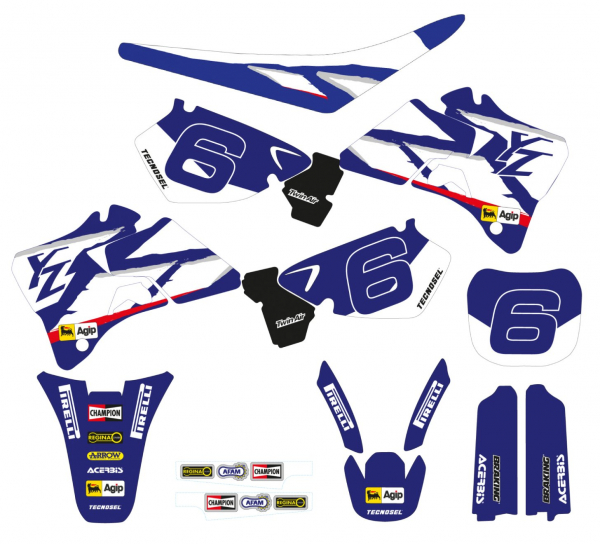 Blackbird Racing TECNOSEL DECALS REPLICA YAMAHA 98 YZ 125 250 96-01