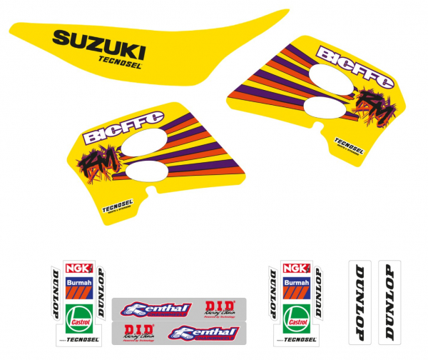 Blackbird Racing TECNOSEL DECALS REPLICA SUZUKI 93 RM 125 250 93-95