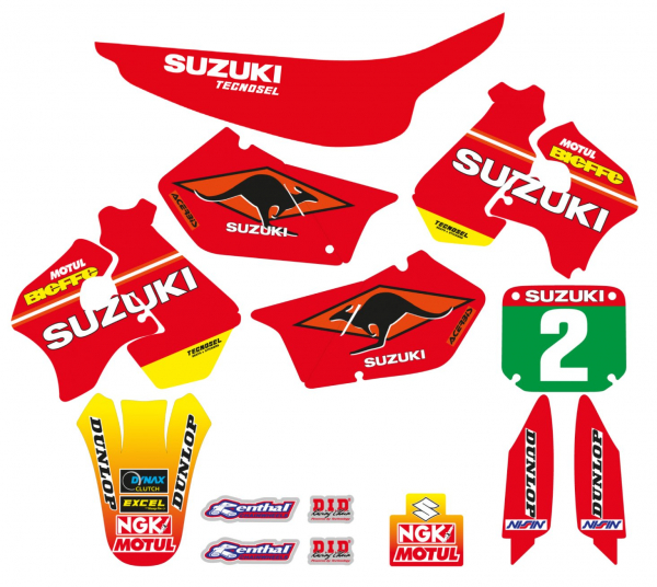 Blackbird Racing TECNOSEL DECALS REPLICA SUZUKI 98 RM 125 250 96-00